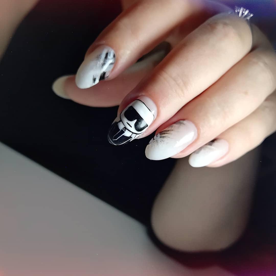 дизайн мазки кистью на ногтях фото_23
