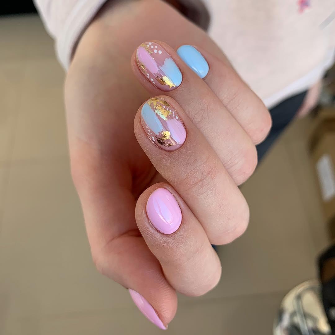 дизайн мазки кистью на ногтях фото_9