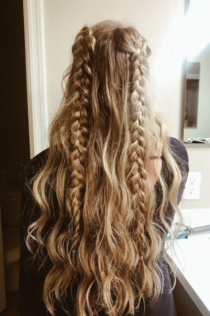 длинные волосы с косой челкой фото 18