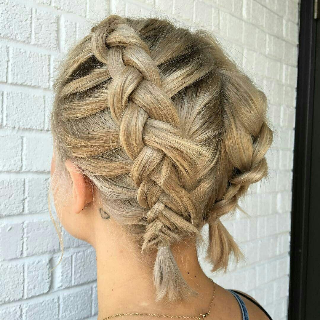 плетеные прически для коротких волос фото 20