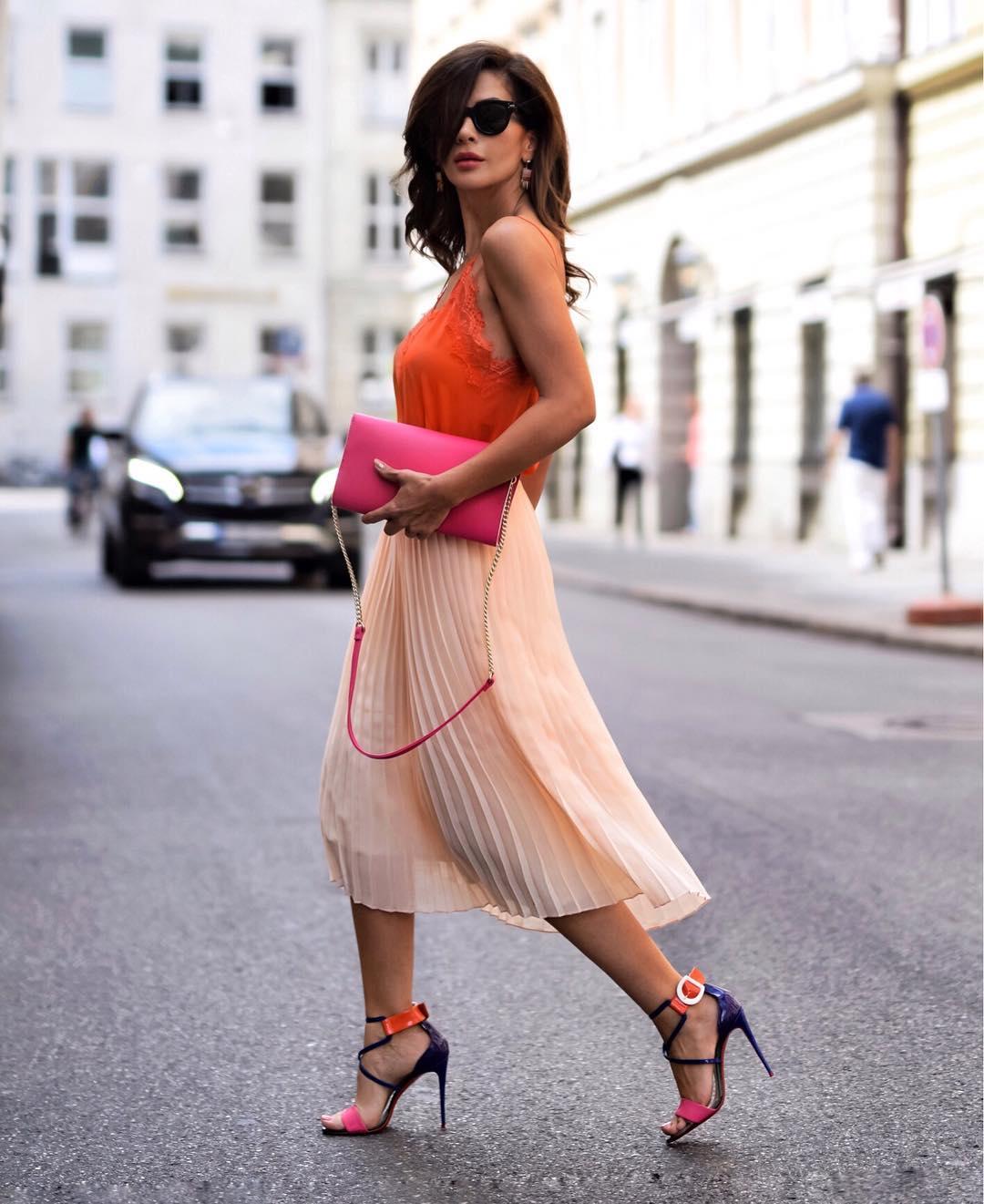 с чем носить плиссированную юбку фото 5