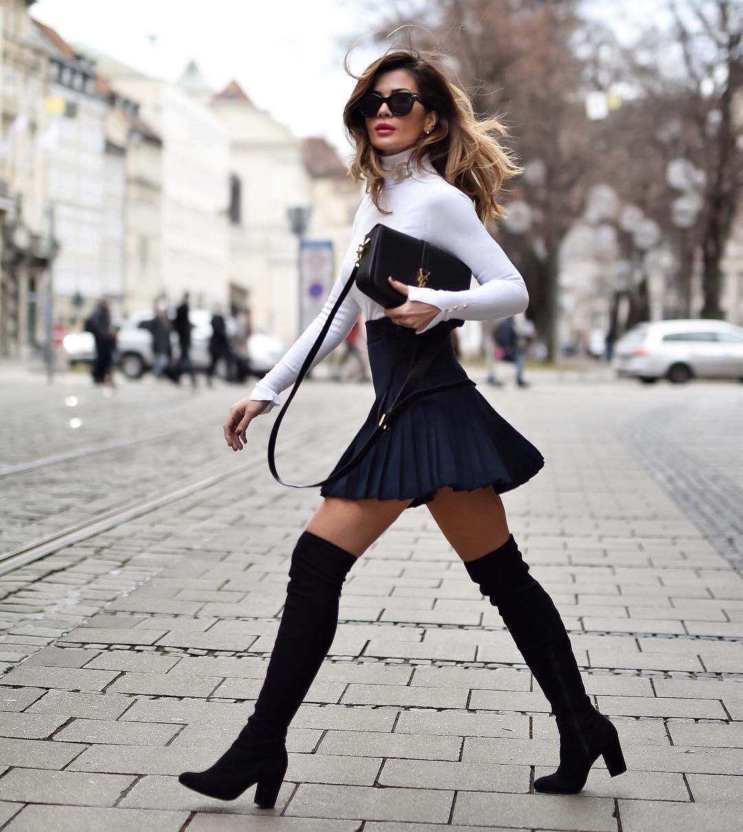 с чем носить плиссированную юбку фото 7