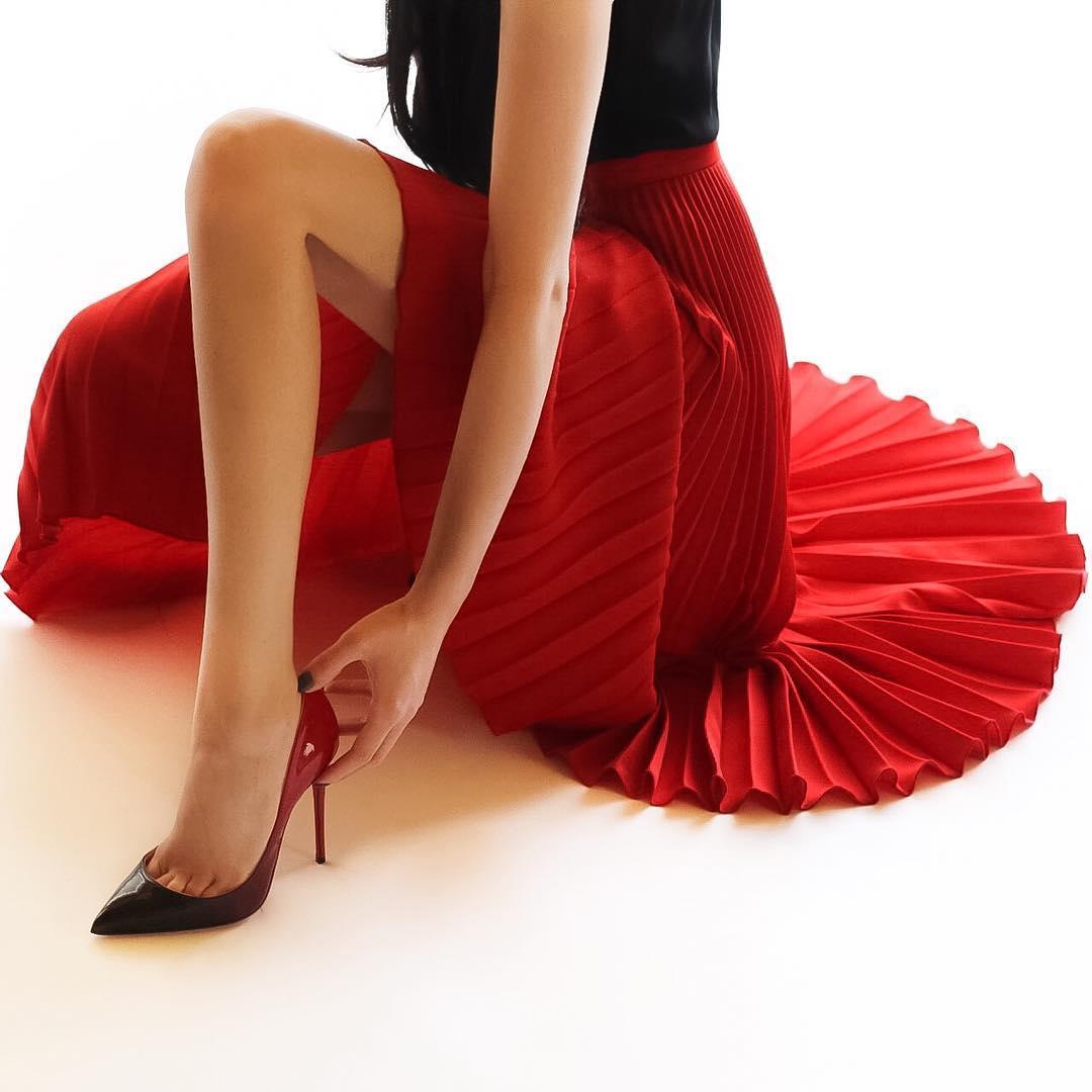 с чем носить плиссированную юбку фото 4