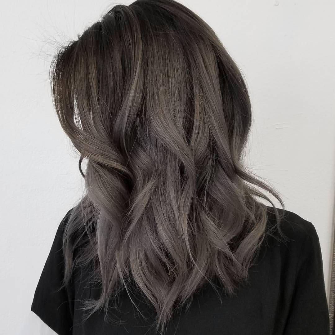 пепельно-каштановые оттенки волос фото 2