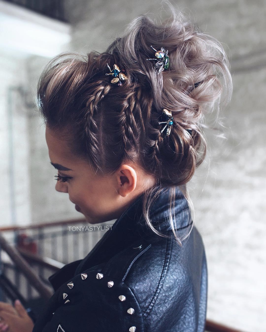 плетеные прически для коротких волос фото 10