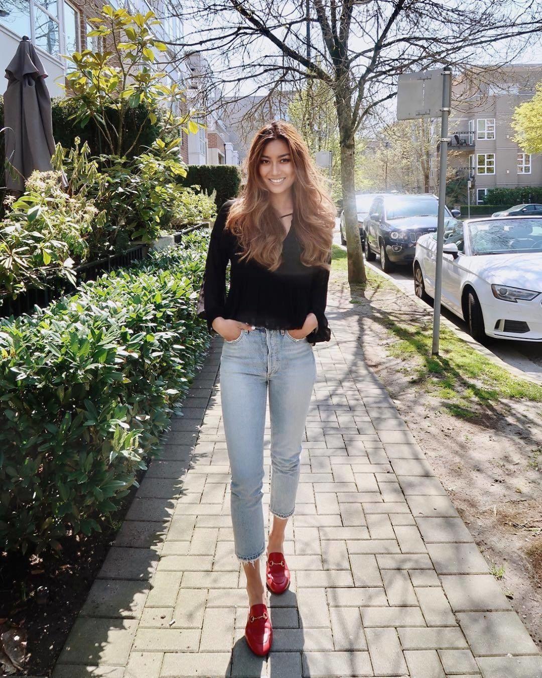 Черная рубашка и джинсы фото 5