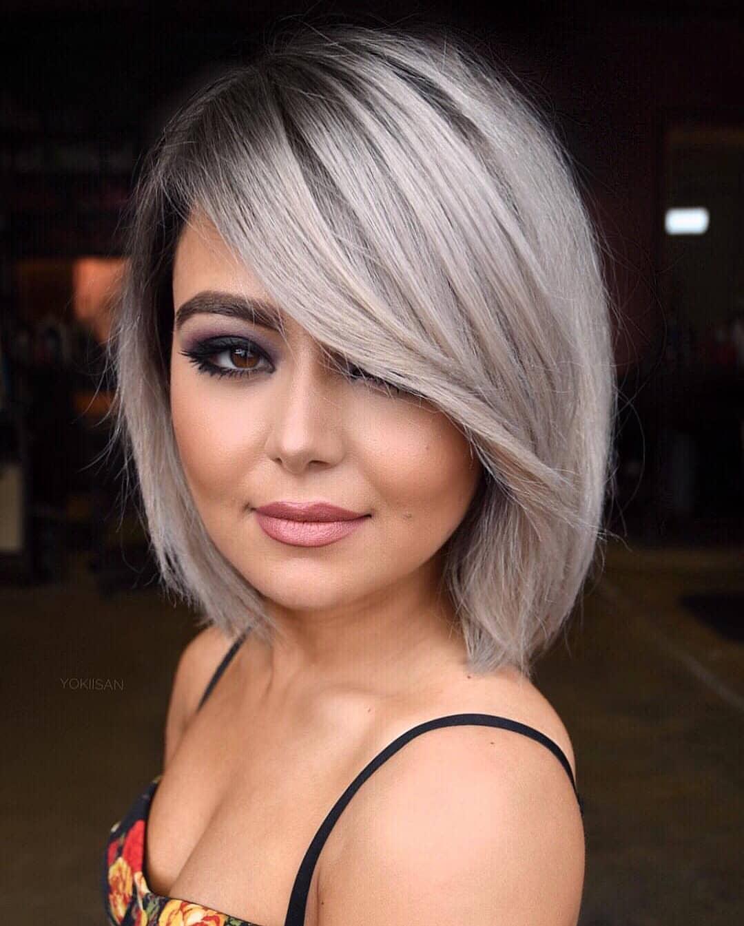 челка на средние волосы фото 5