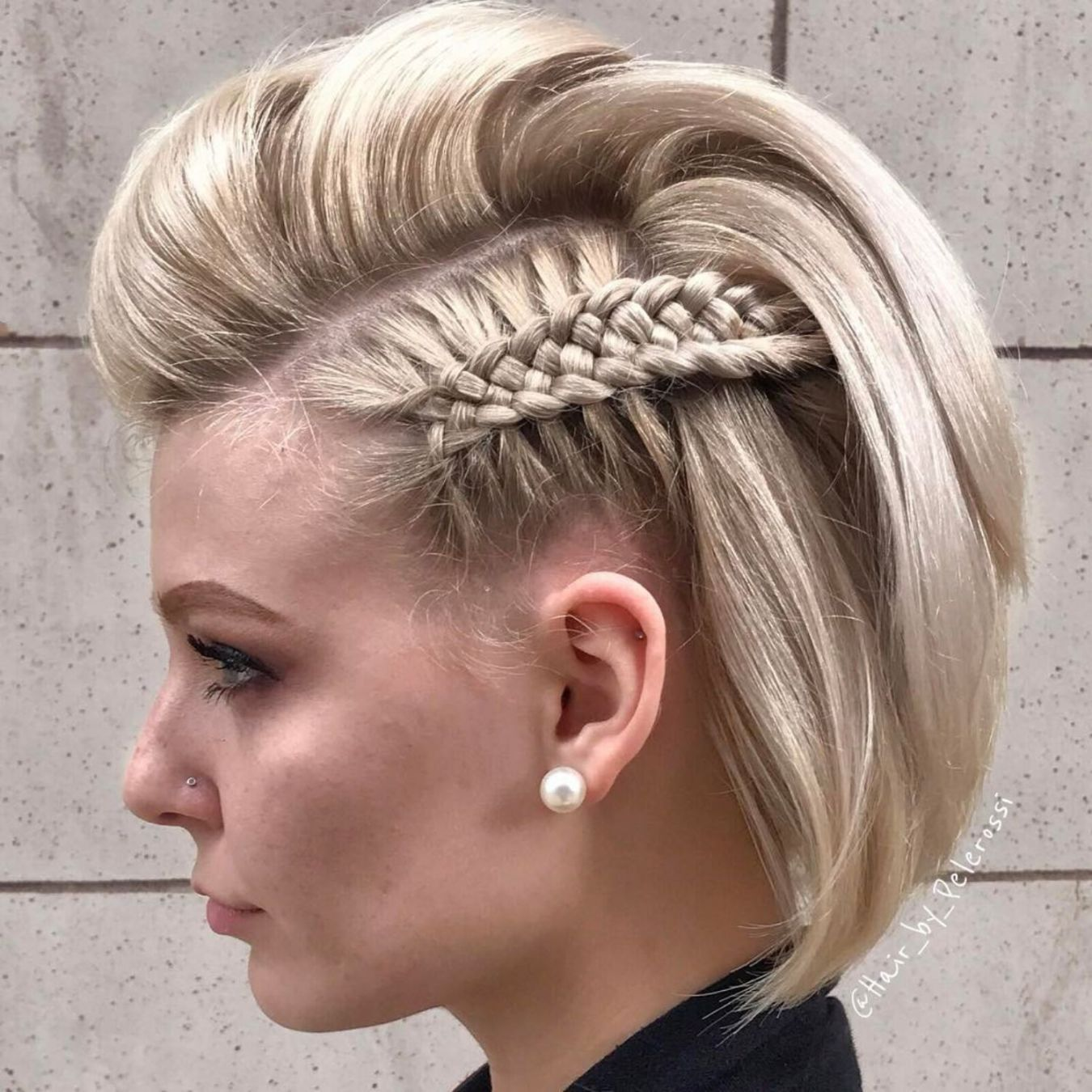 плетеные прически для коротких волос фото 17