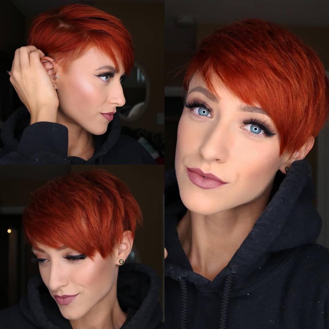 короткие стрижки для рыжих волос фото 11