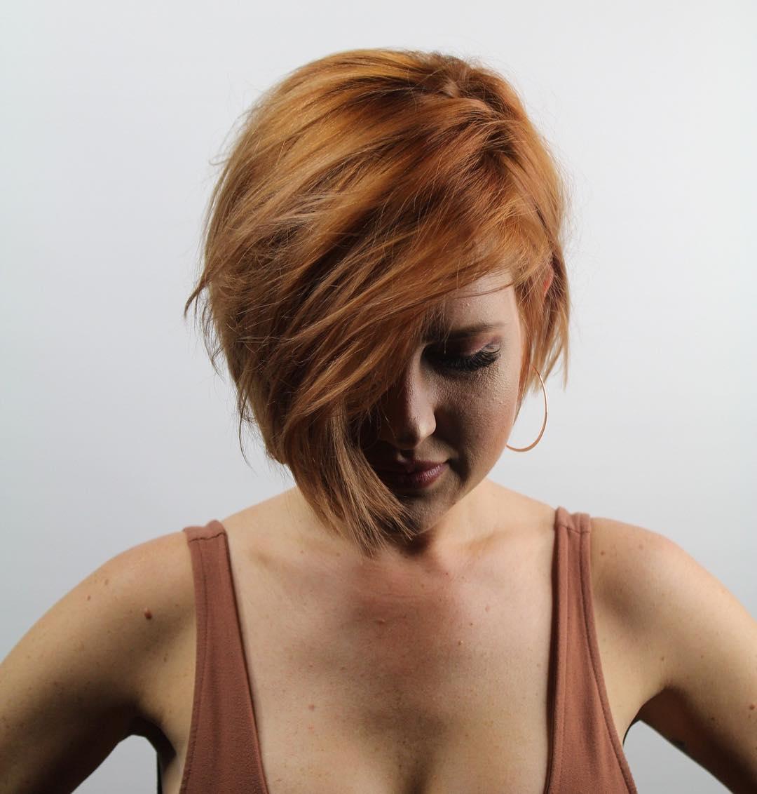 Короткие стрижки для прямых волос фото 9