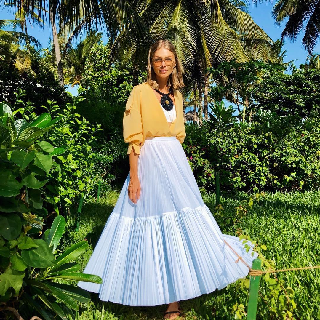 Блузка с длинной юбкой фото 9