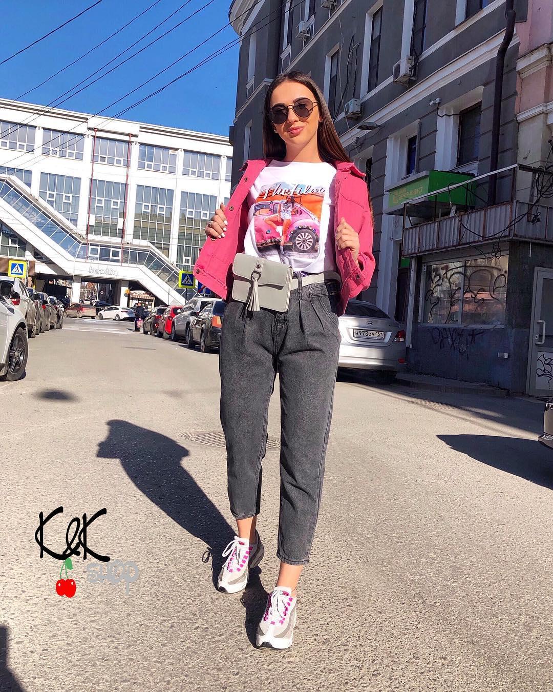 Розовая джинсовая куртка фото 6