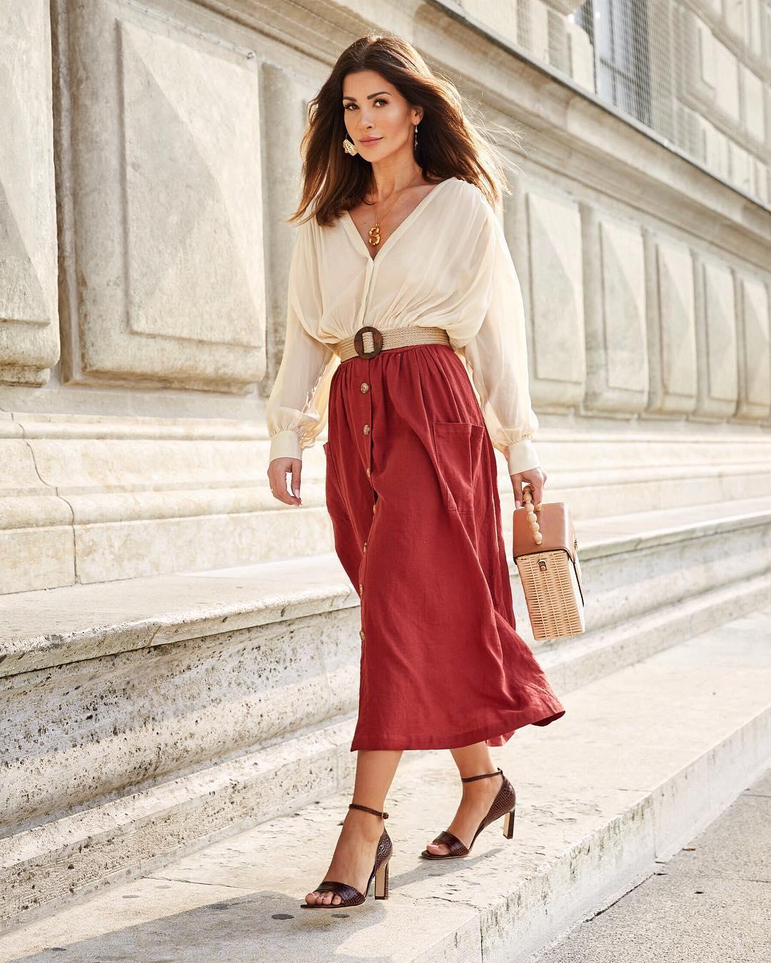 Блузка с длинной юбкой фото 7