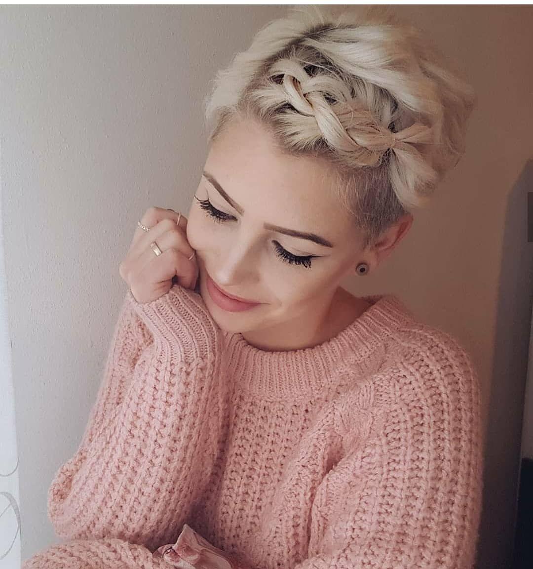 плетеные прически для коротких волос фото 36