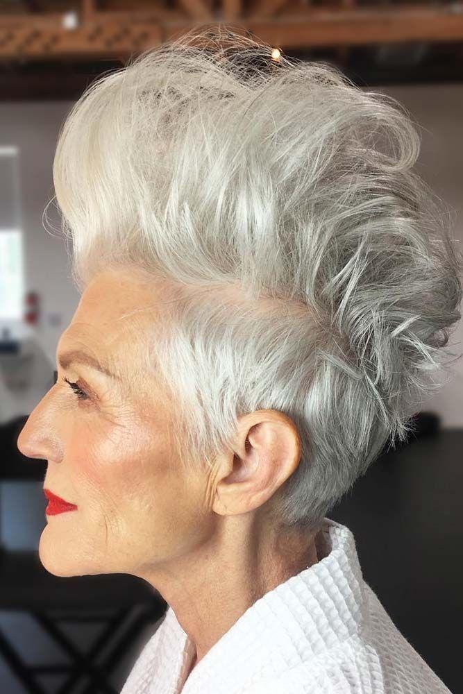 короткие стрижки для пожилых женщин фото 10