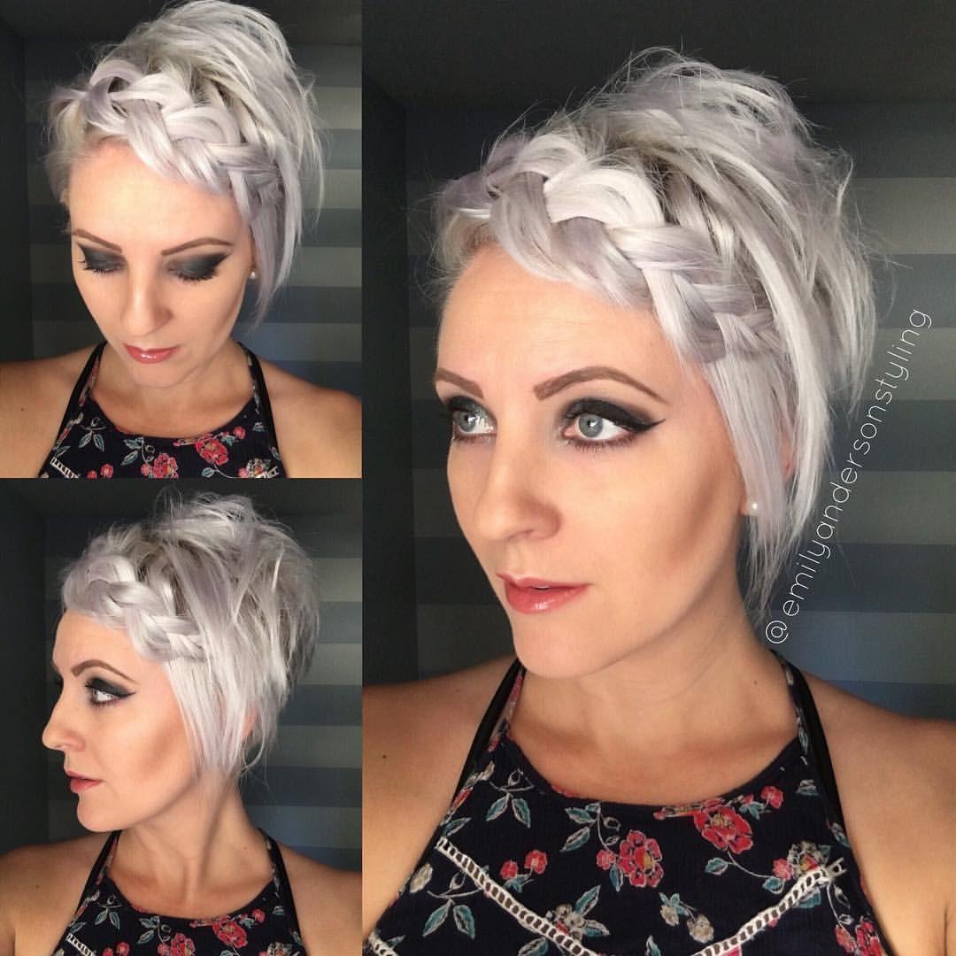 плетеные прически для коротких волос фото 16
