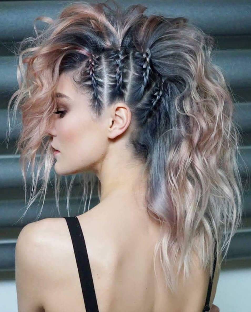 длинные волосы с косой челкой фото 21