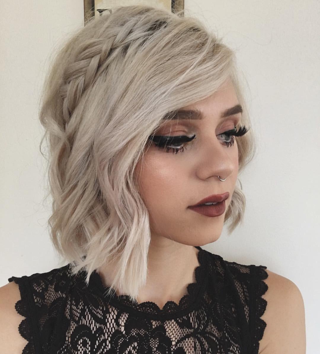 плетеные прически для коротких волос фото 35