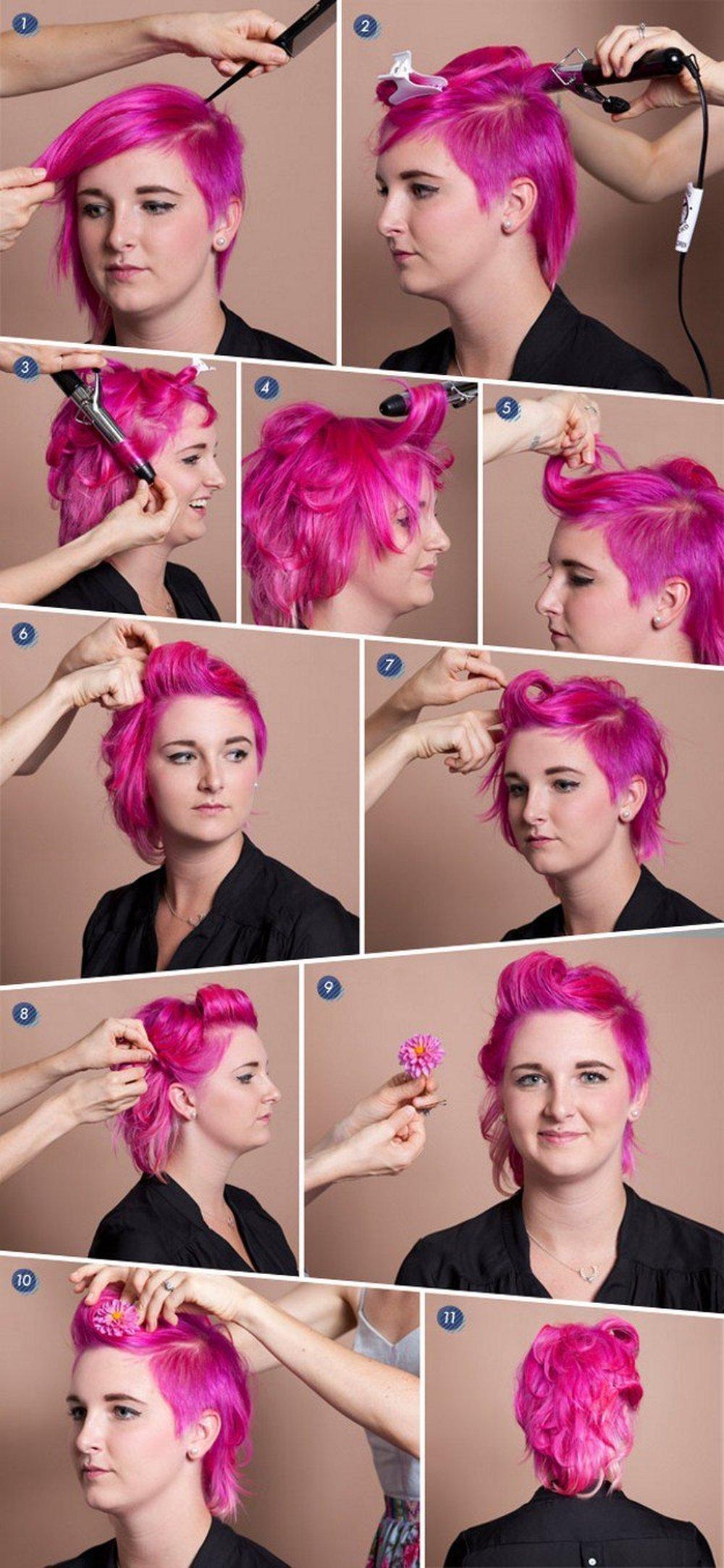 причёски для коротких волос фото 21
