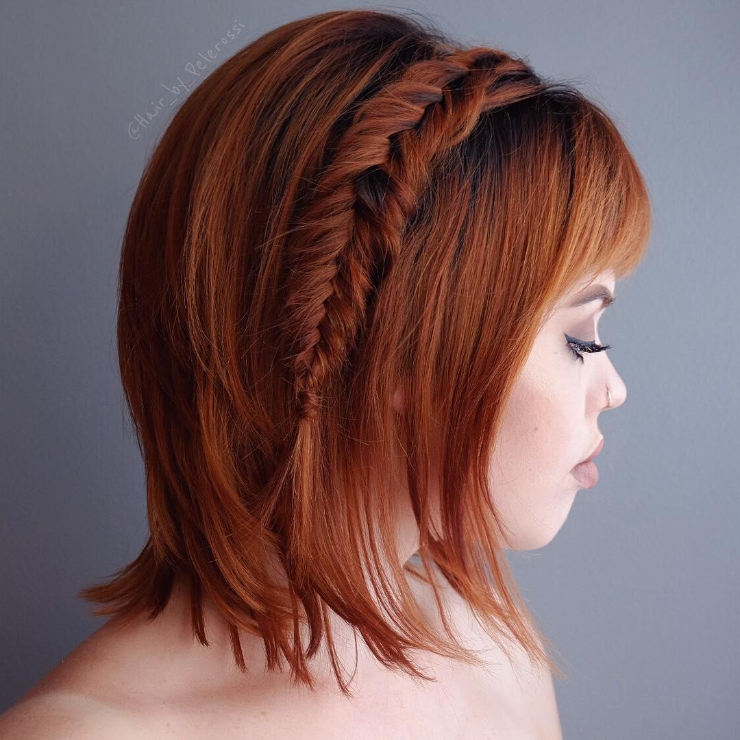 плетеные прически для коротких волос фото 51