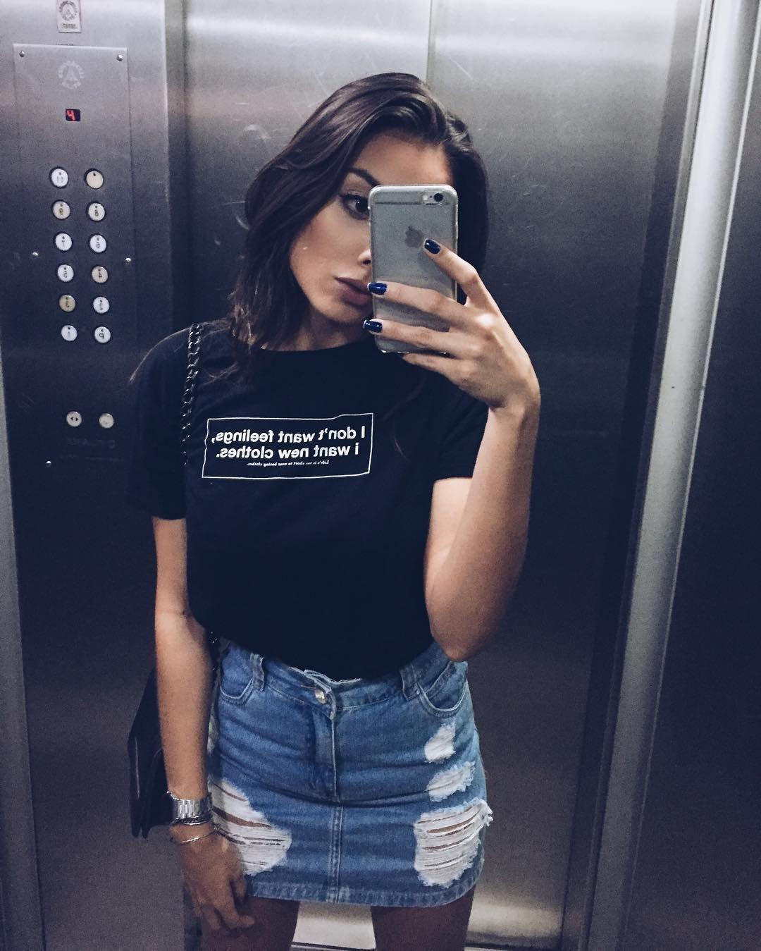 Юбка с футболкой фото 11