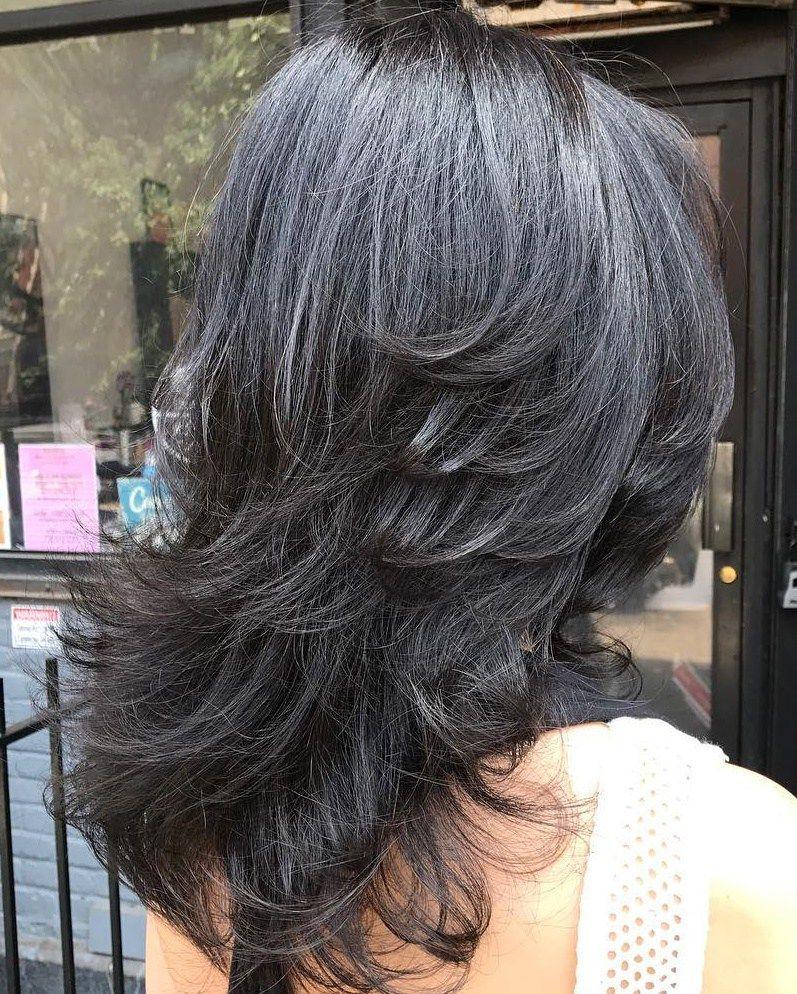 Каскад на средние волосы фото 3