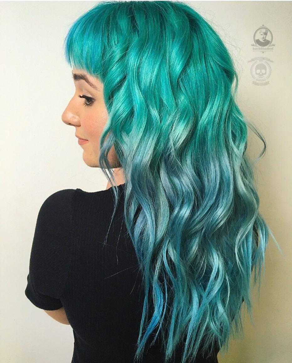Бирюзовый цвет волос фото 10
