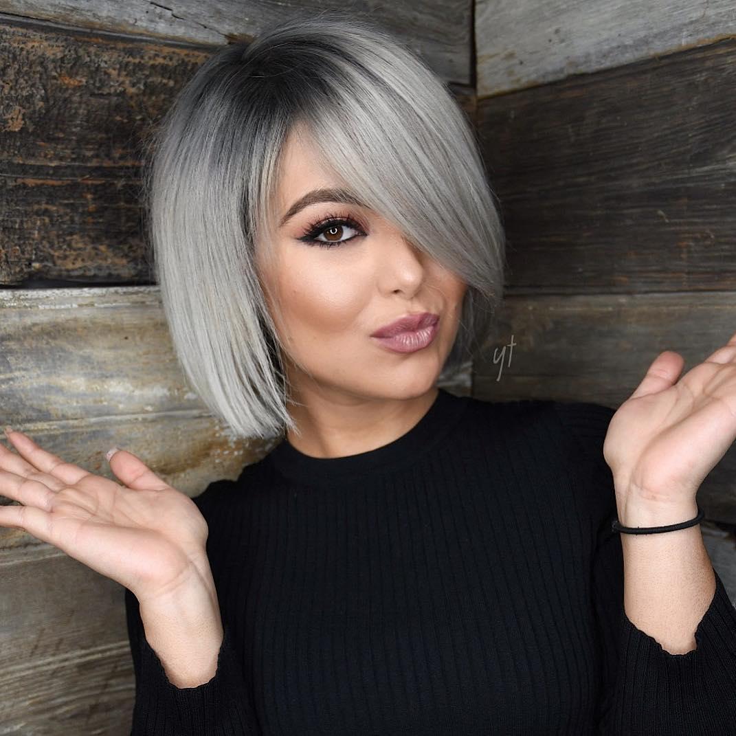 Модная челка 2019 на короткие волосы фото 1