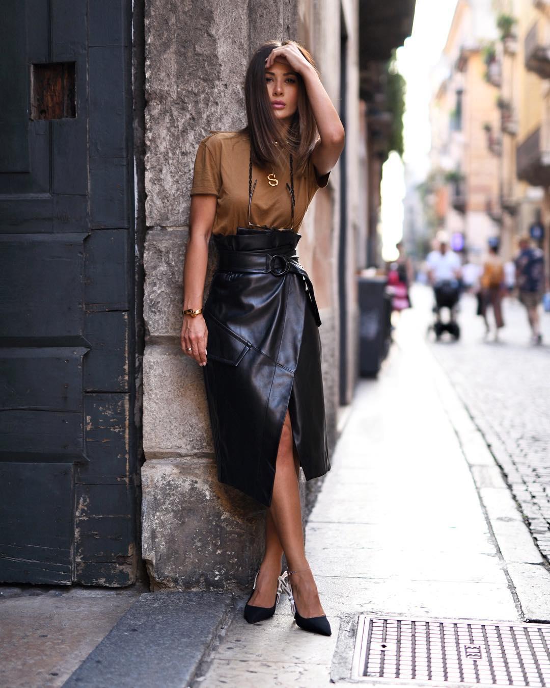 Высокая юбка фото 14