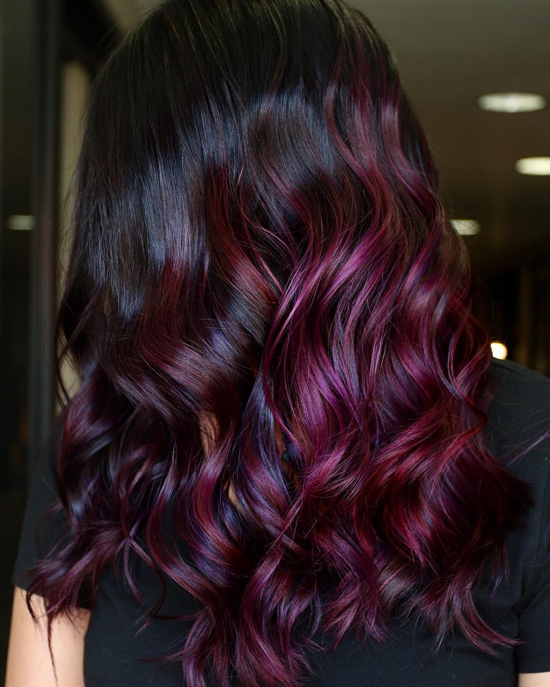 окрашивание тёмных волос фото 16