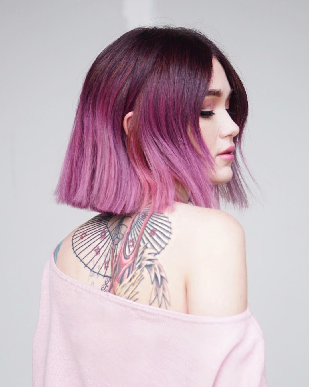Розовый цвет волос фото 4