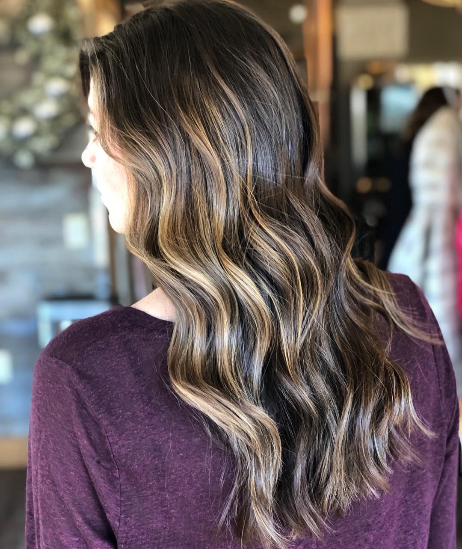 окрашивание тёмно-каштановых волос фото 6