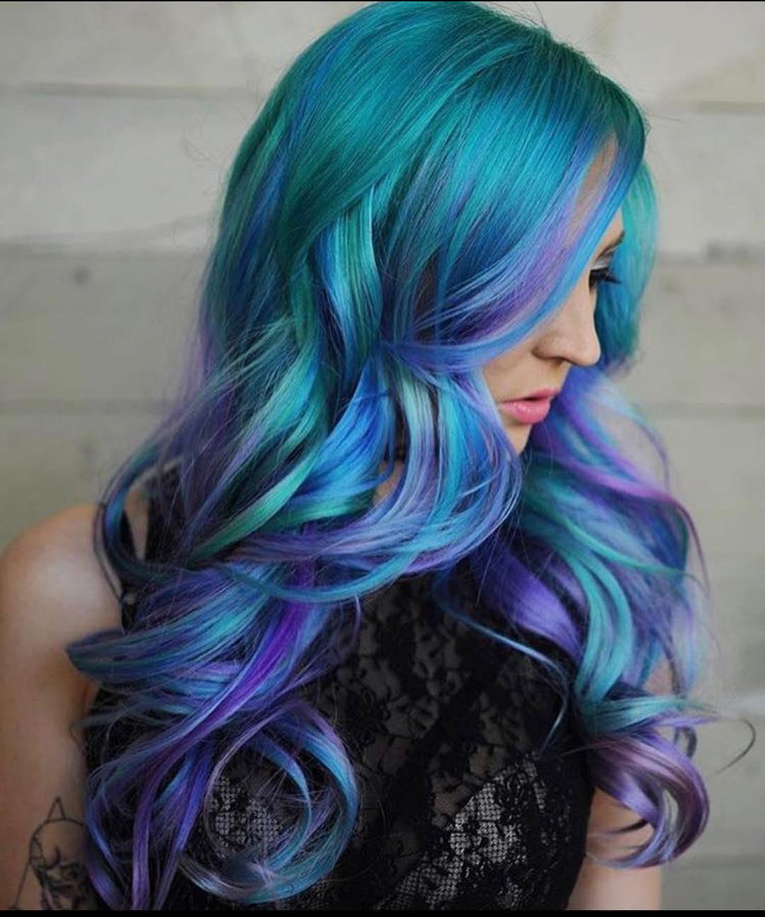 Бирюзовый цвет волос фото 7