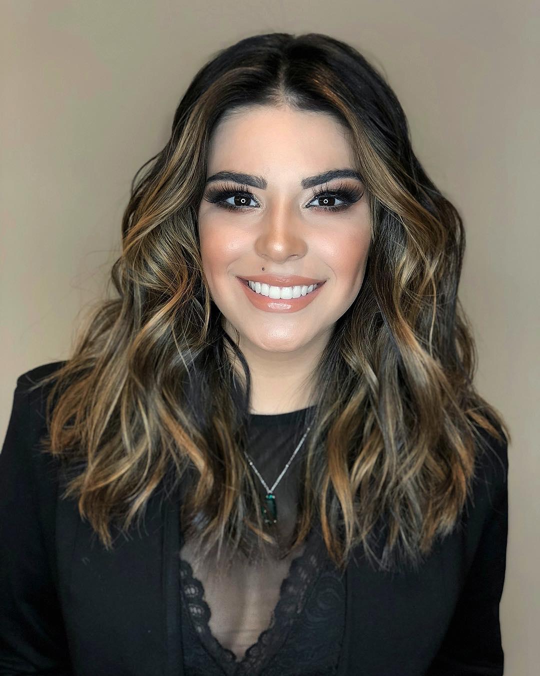 окрашивание тёмных волос фото 5