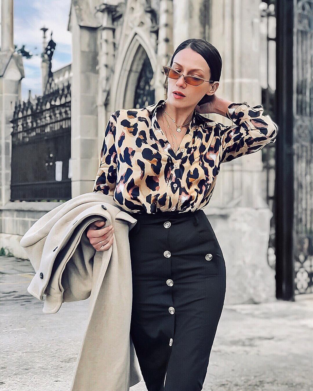 Блузка с черной юбкой фото 4