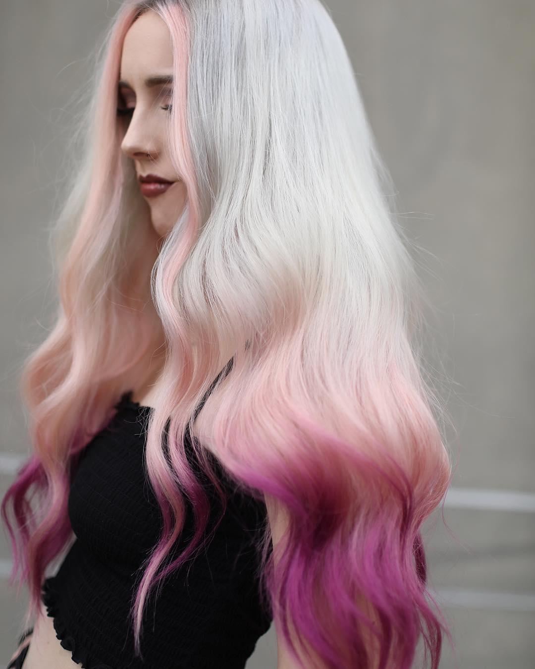 Розовый цвет волос фото 3