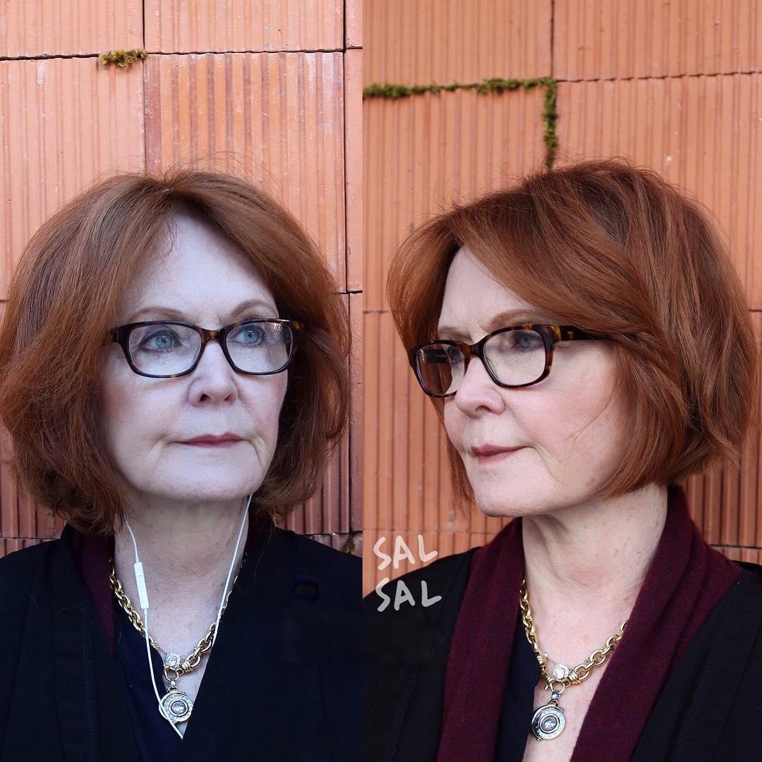 Короткие стрижки для женщин после 50 фото 7