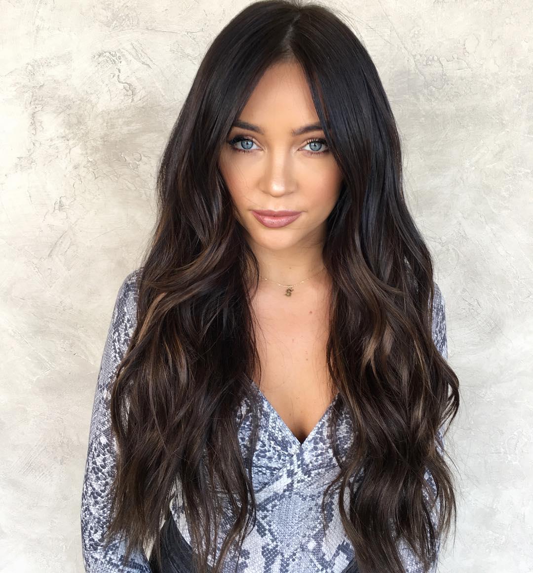окрашивание тёмных волос фото 1