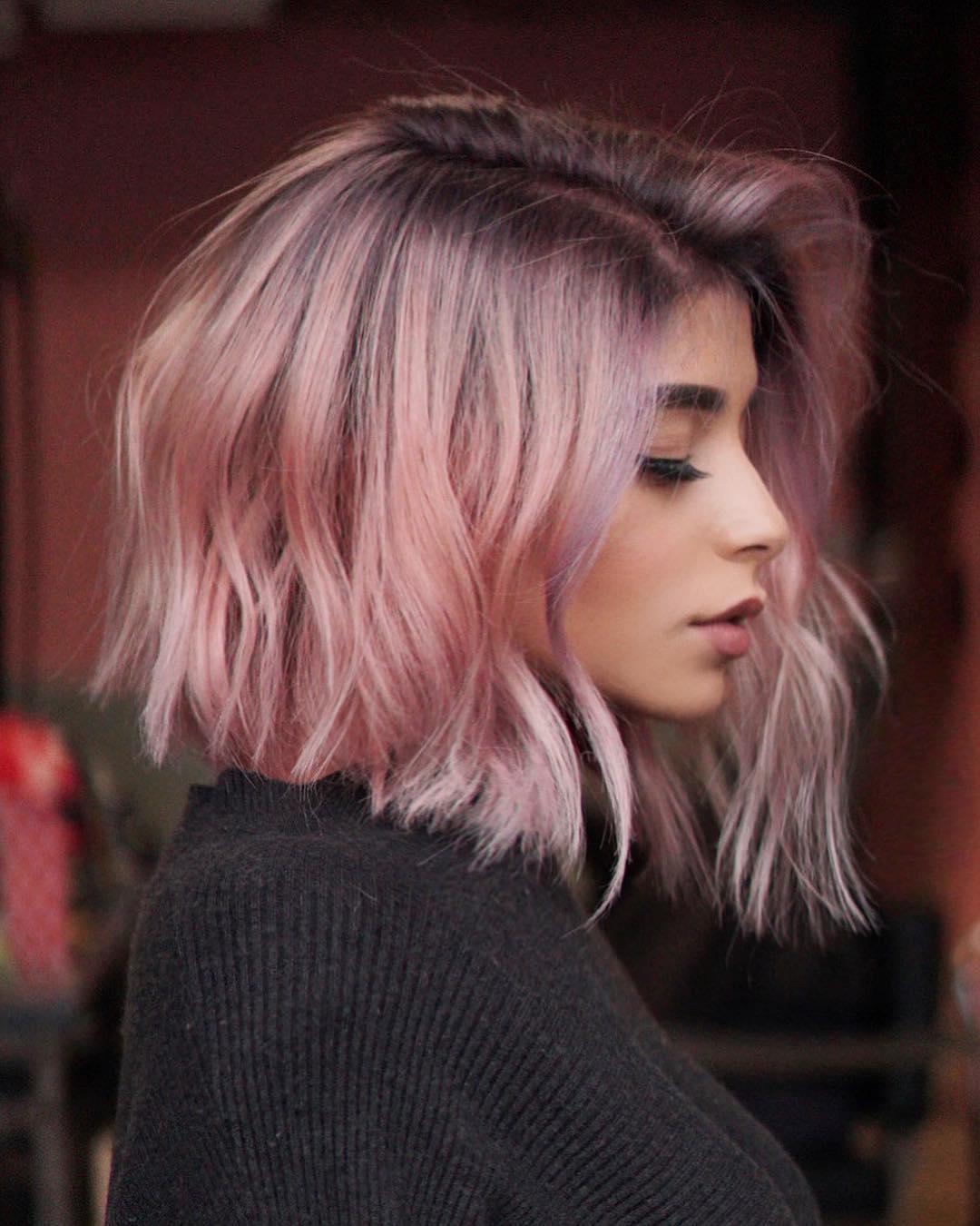 Розовый цвет волос фото 5