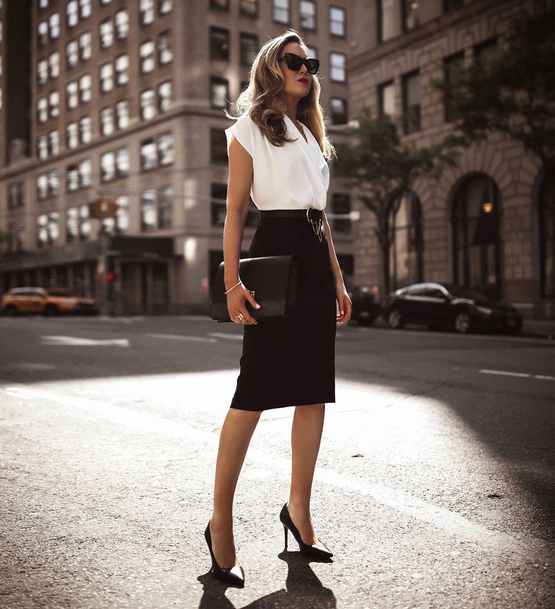 блузка с черной юбкой фото 2