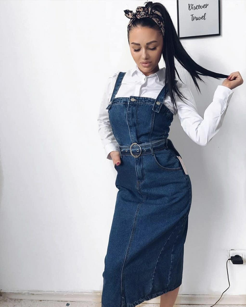 джинсовые сарафаны 2019 фото 4