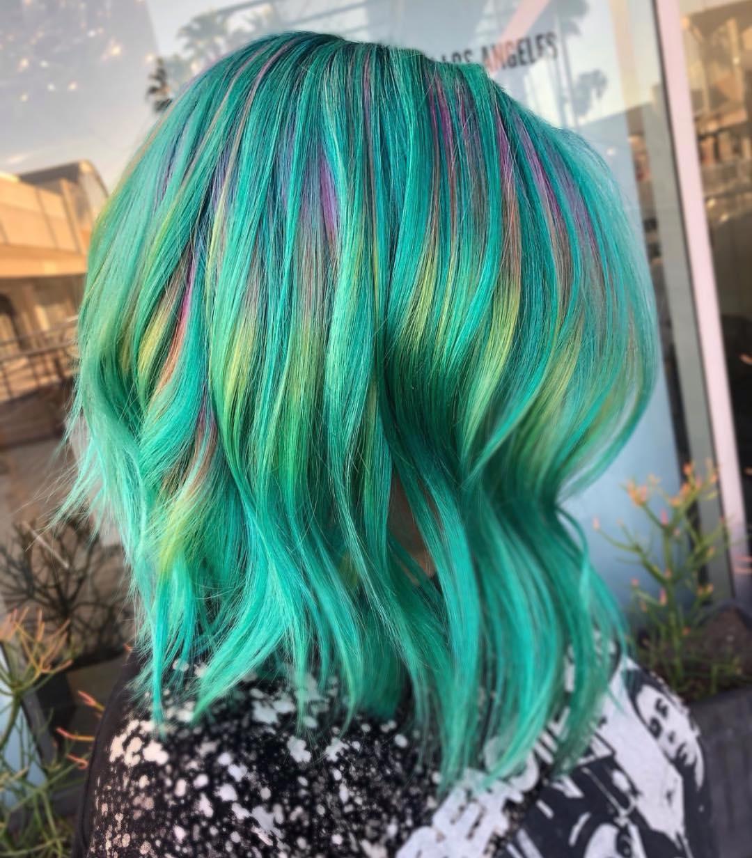 Бирюзовый цвет волос фото 9