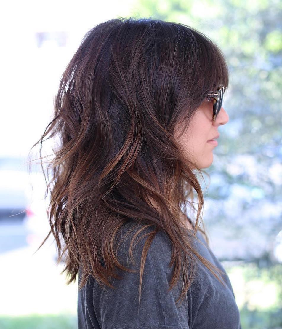 Каскад на средние волосы фото 2