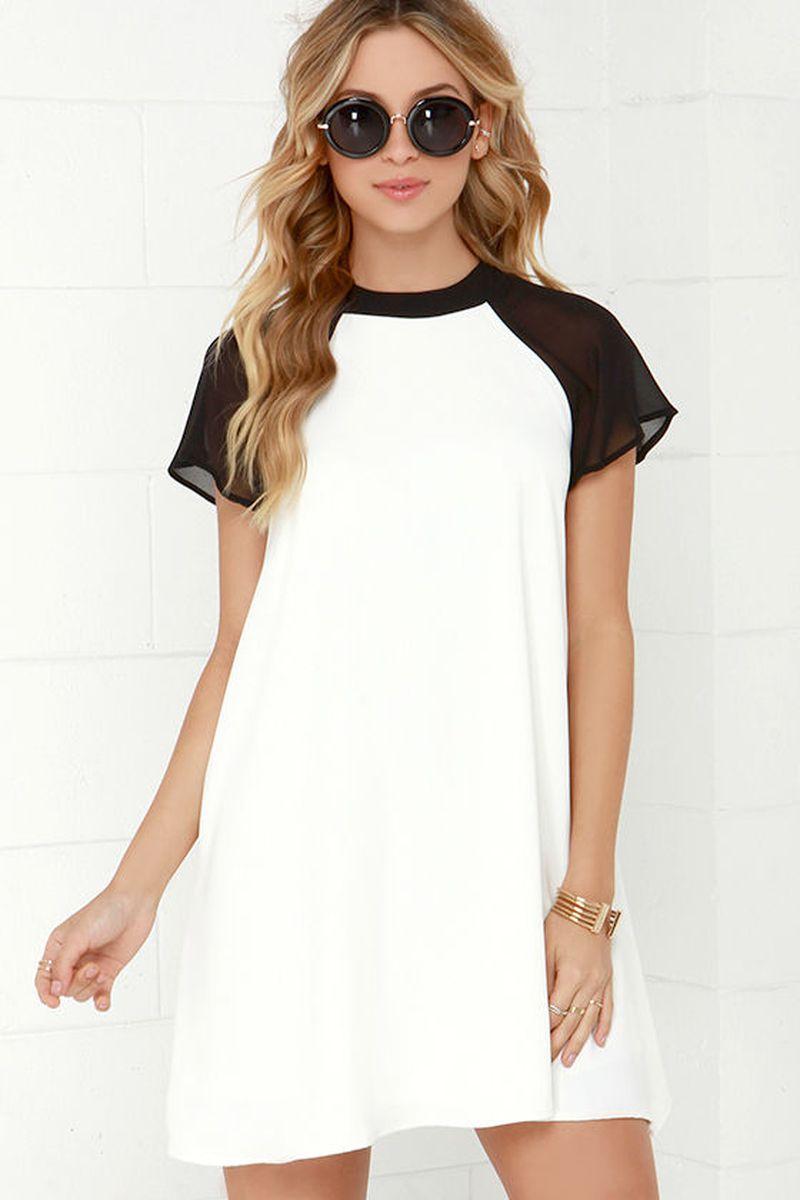 Платье с коротким рукавом фото 6