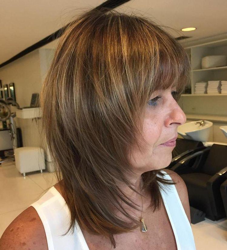 Стрижки на средние волосы после 40 фото 1