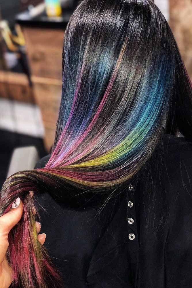 окрашивание тёмных волос фото 15