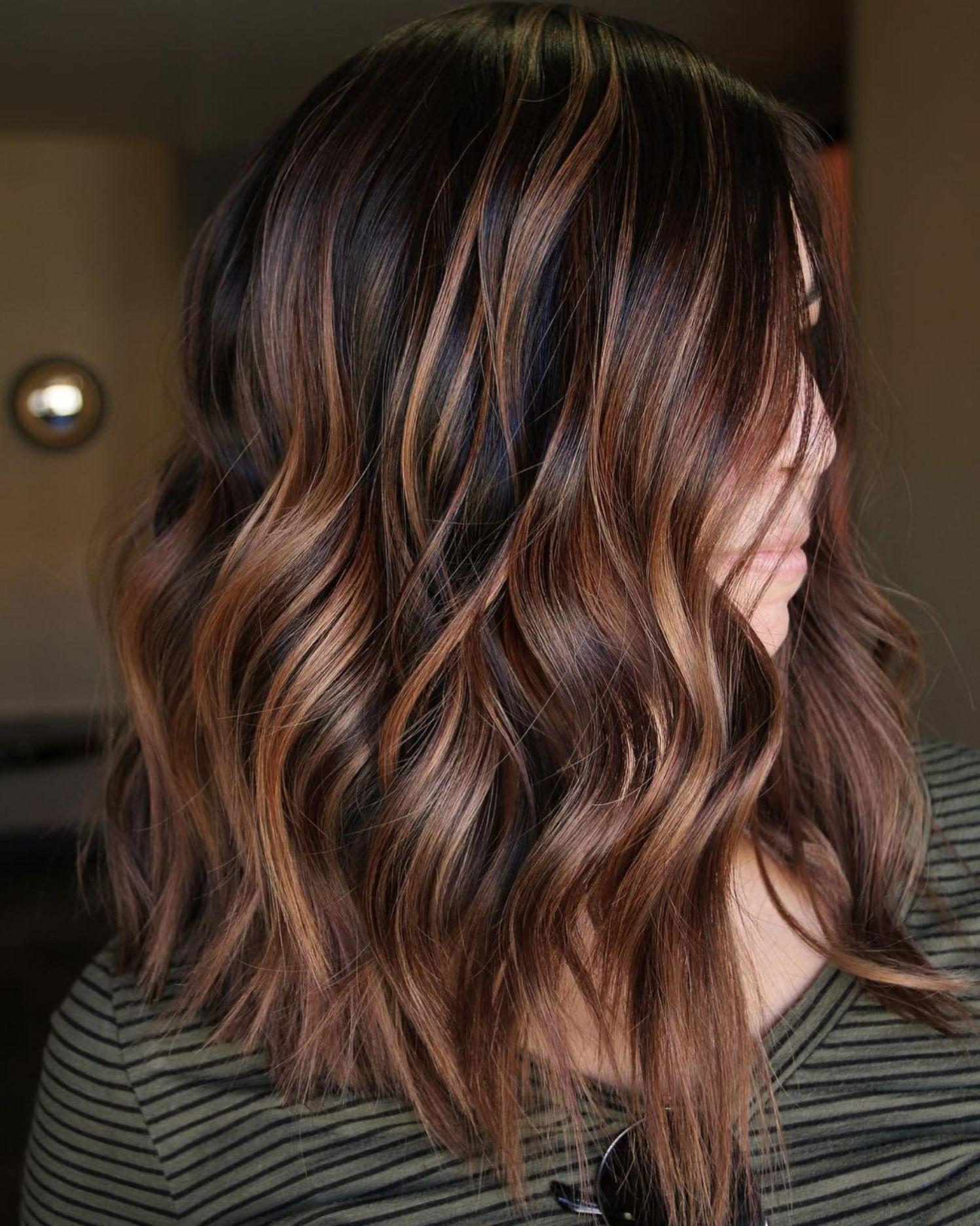 Тёмно-каштановый цвет волос фото 2