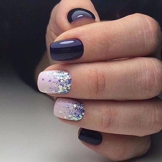короткие темные ногти_8