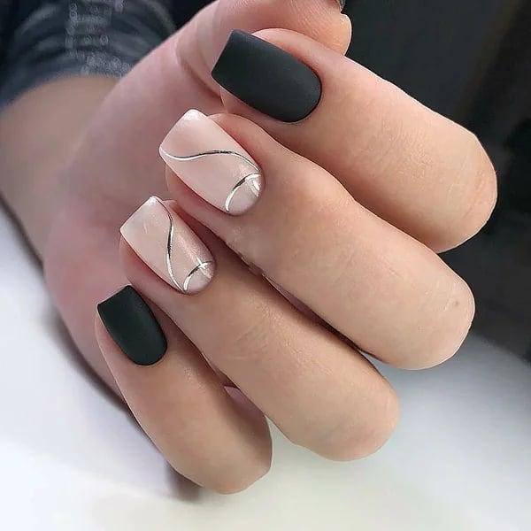 короткие темные ногти_34