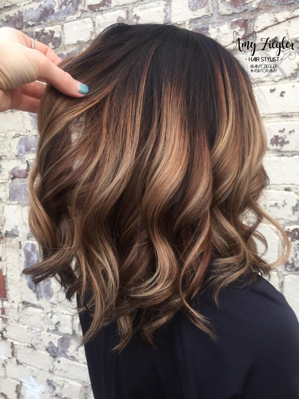 Балаяж на средние волосы: фото 8